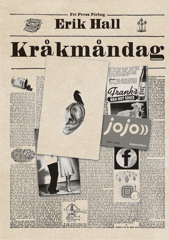 Omslaget till 'Kråkmåndag' av Erik Hall